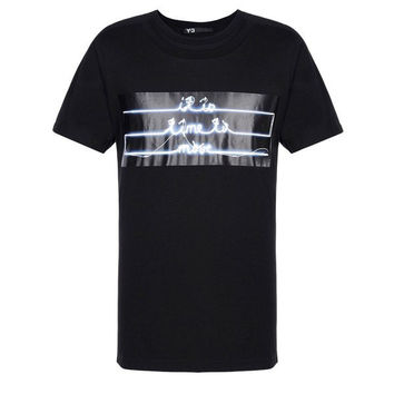 Neon Glow Double Crew T-Shirt by Y-3