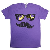 Baltimore Purple & Gold Maryland Mustache (Purple) / Shirt