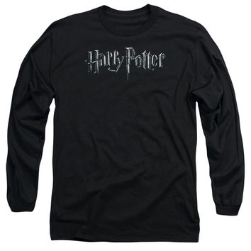 Harry Potter - Logo Long Sleeve Adult 18/1 Officially Licensed Shirt