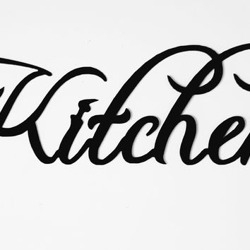 Kitchen Word Sign Home Decor Metal Wall Art