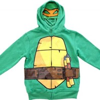 TMNT Teenage Mutant Ninja Turtles Boys Green Costume Hoodie Sweatshirt