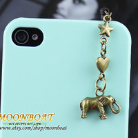 Dust Proof Plug-3.5mm Retro Bronze Calf Elephant For iphone 4s,iPhone 4,iPhone 3gs,iPod Touch 4,HTC,Nokai,Samsung,Sony MB636