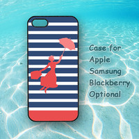 Mary Poppin for iphone 4S case, iphone 5 case, ipod case , Samsung note 2, Samsung galaxy S3, Samsung galaxy S4, blackberry z10, q10