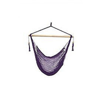 Laid Back - Easy hang, Island Rope Hammock Chair - Purple