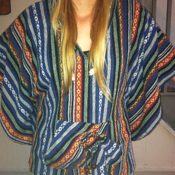 Tribal print Dreamcatcher poncho   by Handspunhomegoods on Etsy