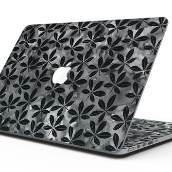 Black Watercolor Holly - MacBook Pro with Retina Display Full-Coverage Skin Kit