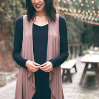 Layered Sleeveless Cardigan