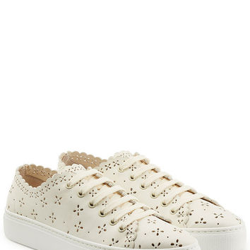 Perforated Leather Sneakers - Simone Rocha | WOMEN | US STYLEBOP.COM