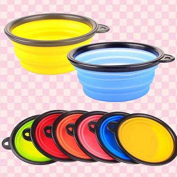 Premium Quality Portable Silicone Outdoor Travel Dog Cat Pet Bowl Collapsible Food Water Travel Bowl