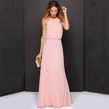 VONEFC2 Fashion Prom Dress Ladies Sexy Sleeveless Backless Maxi Dress Formal Evening Party Date Cocktail Ball Gown Dress Bridesmaid Dress