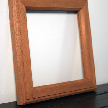 Small Mahogany Frame with Double Bevel with Outside Rabbet