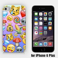 for iPhone 6/6S Plus - Money Diamond Mushroom Corn Crown Fries Candy Cat Alien Emoji - Smiley - Emoticon - Ship from Vietnam - US Registered Brand