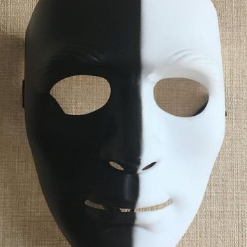 New Black White HipHop Mask Cosplay Delicated Jabbawockeez Bboy Mask Street Step Dance Festival Party Halloween Mask