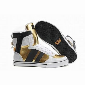 2011 supra skytop white gold black perf men shoes discount