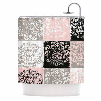Chickaprint  Damaskmix Pink Gray Shower Curtain Best And Products on Wanelo