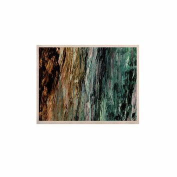 """Ebi Emporium """"RAINBOW BARK 1"""" Teal Tan Abstract Nature Painting Mixed Media KESS Naturals Canvas (Frame not Included)"""