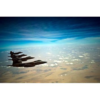 F22 Airplane Aviation poster Metal Sign Wall Art 8in x 12in