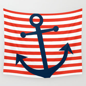 Nautical Anchor Wall Tapestry by All Is One