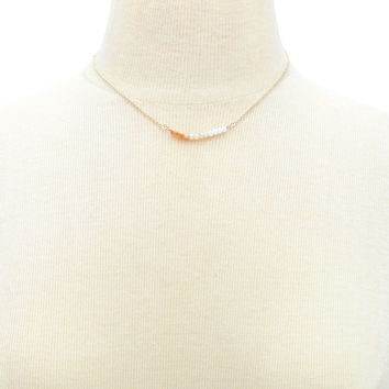 Multi-Tonal Faux Crystal Necklace