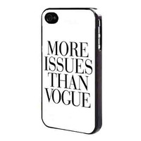 More Issues Than Vogue iPhone 4, 4s, 5, 5s, 5c or Galaxy S3 S4 S5 Note 2, 3, 4 Cell Phone Back Case Cover