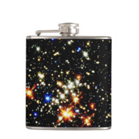 STAR CLUSTER (an outer space design) ~ Flask