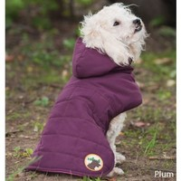Fashion Pet Outdoor Dog All Weather Quilted Coat, Medium, Plum