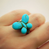 Butterfly Ring. Turquoise Ring. Bohemian Jewelry, Size 5. Blue Ocean Brown Rings. Boho Rings, Animal, Jewelry Rings, Turquoise Jewelry. Kids