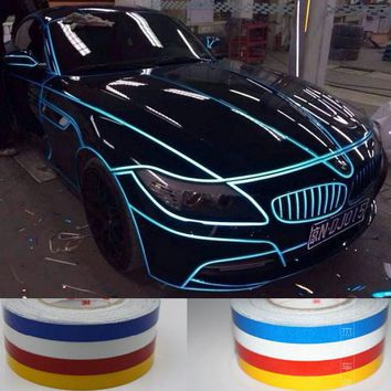 1.0CM x 1Meter DIY Reflective Sticker Automobile luminous strip car & motorcycle Decoration Decals Vinyl Sticker Free shipping