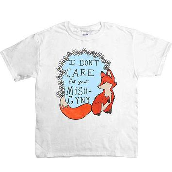 Feminist Fox Doesn't Care For Your Misogyny -- Youth/Toddler T-Shirt