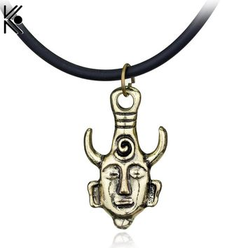 Supernatural The Evil Forces Necklaces Dean Wearing The Amulet Necklaces Amuleto Pendant Leather Chain Necklace Jewelry