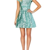 Glitz & Glam Sequined Skater Dress
