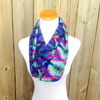 Circle Scarf // Fashion Infinity Scarf // Fun Bright Print