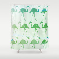 Flamingo Mist Shower Curtain by C Designz