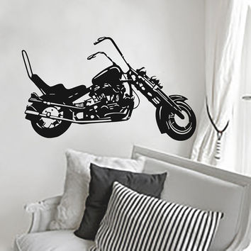 Wall Decals Decal Vinyl Sticker Motorcycle Nursery Bedroom Room Dorm Decor Home Playroom Hall Window Interior Art Murals MN506