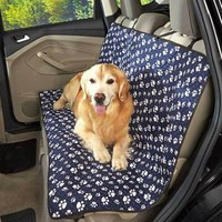 Quilted Paw Print Car Seat Cover Mat Protector Pet Dog Kids Water Resistant Auto
