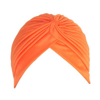 Orange Pleated Turban