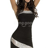 Sexy Women's Backless Dress Black Mini Dress 2184# Free Shipping!  - US$12.99