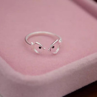 Lovely hollow fish 925 sterling silver opening ring