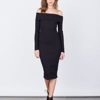 Off-the-Shoulder Bodycon Dress