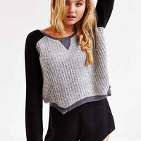 Somedays Lovin Pretender Cropped Sweater- Black Multi