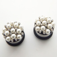 Glamsquared *Fashion Plugs*Jewelry*Accessories* — Pearl Cluster Plugs