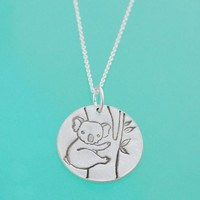 ShanaLogic.com - 100% Handmade & Independent Design! Silver Koala Necklace - Asian Inspiration