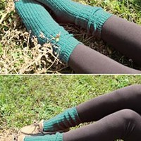 Day by Day Chunky Knit Socks in Teal | Sincerely Sweet Boutique