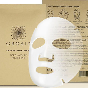 Greek Yogurt & Nourishing Organic Sheet Mask for Face | Made in USA (Single)