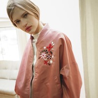 [OUTSTANDING ORDINARY] FLOWER JUMPER JACKET_PINK