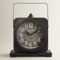 Black Addison Tabletop Clock - World Market