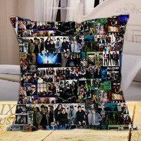 Fall Out Boy Collage on square pillow cover 16inch 18inch 20inch