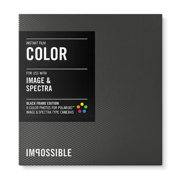 Impossible Project Black Frame Color Film for Polaroid Image or Spectra Type Cameras