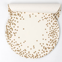 "12"" Gold Dot Serving Papers"