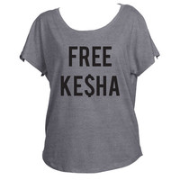 Free Kesha  Slouchy Drapey Shirt Tri-Blend Dolman Women's Yoga Workout Shirt Trendy Off Shoulder